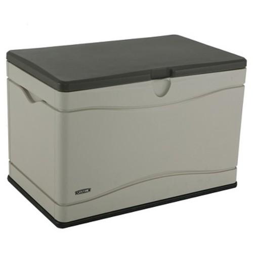 Lifetime 80 Gallon Outdoor Storage Box - Gray & White