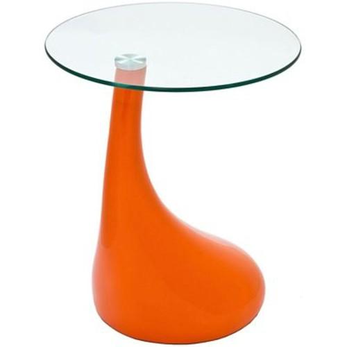 Modway Teardrop Side Table in Orange