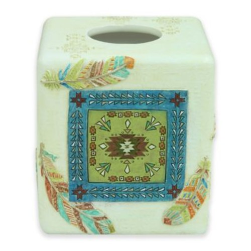 Bacova Southwest Boots Boutique Tissue Box Cover in Blue/Green