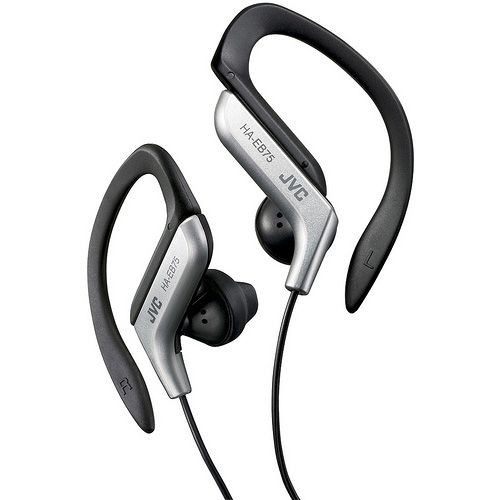 JVC Kenwood HA-EB75S Ear Clip Headphones for Sports - Silver