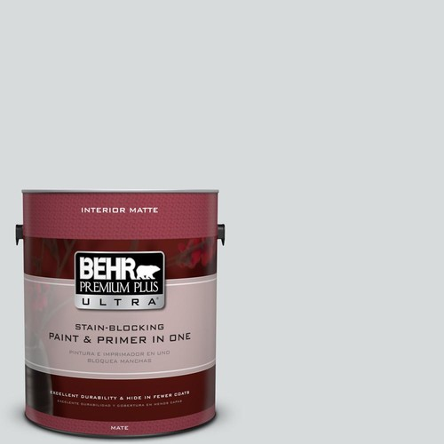 BEHR Premium Plus Ultra 1 gal. #PPU26-14 Drizzle Matte Interior Paint and Primer in One