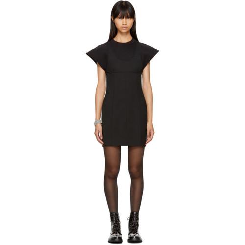 ALEXANDER WANG Black Hybrid Dress