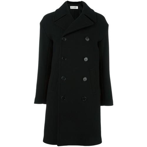 SAINT LAURENT Buttoned Caban Coat