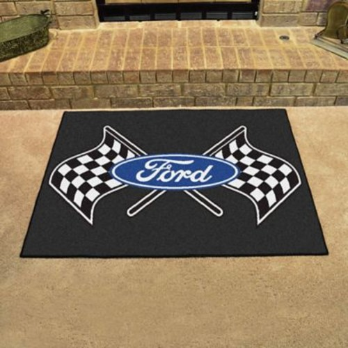 FANMATS Ford - Ford Flags All Star Mat; Black