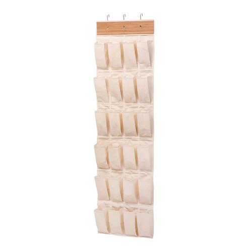 Honey-Can-Do 24-Pocket Over-the-Door Shoe Organizer-Multicolor