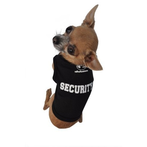 Doggie Tank Top, Security [Black, xs]