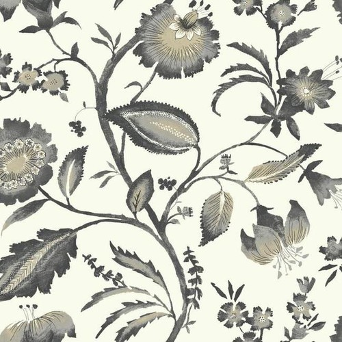 Watercolor Jacobean Wallpaper in Grey and Beige design by York Wallcoverings - 2 [Quantity : 2]