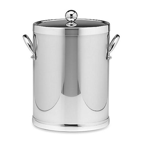 Kraftware Americano Polished Chrome Ice Bucket with Side Handles [Finish : CHROME]
