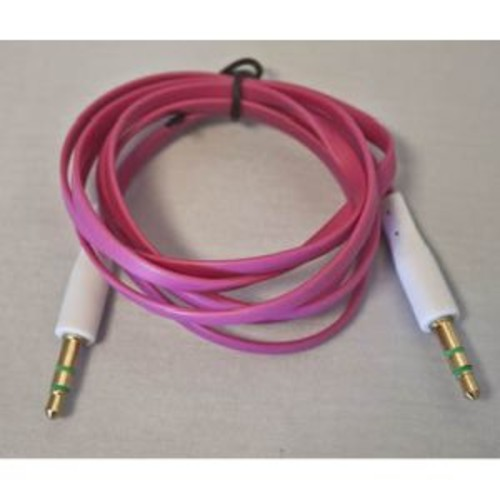 GRD Flat AUX Cable - Pink