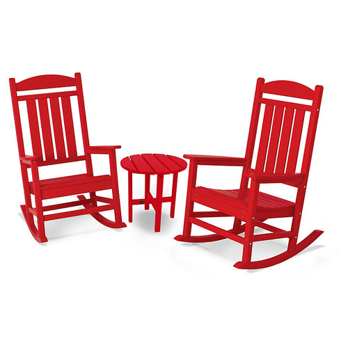 Presidential 3-Pc Rocking Chair Set, Sunset Red