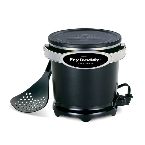 Presto 05420 4-Cup FryDaddy Countertop Deep Fryer Black/Silver -