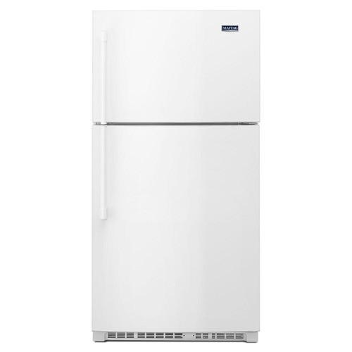 Maytag 33 in. W 21 cu. ft. Top Freezer Refrigerator in White