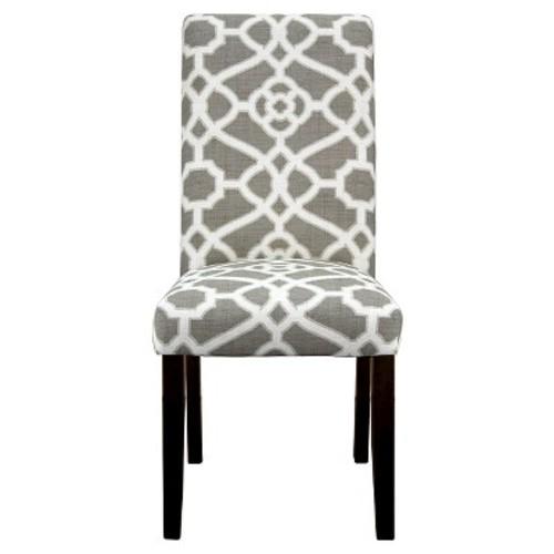 Avington Print Accent Dining Chair - Pavilion Fretwork Gray (1 Pack) - Threshold