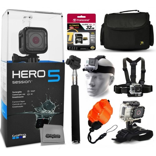 GoPro HERO5 Session + 32GB Medium Accessory Bundle Kit for Action Cameras