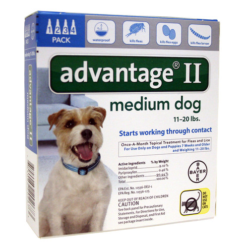 Advantage II for Dogs between 11-20 lbs 4 Month Supply