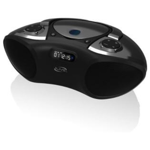 GPX iLive Boombox Bluetooth Speaker with CD Player and FM Radio (Black)