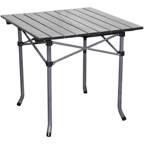 ORE International Camping & Hiking Gear Aluminum Roll Slat Dove Grey Table