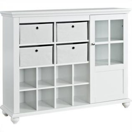 Ameriwood Home Altra Furniture Reese Park Storage Cabinet in White