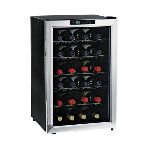 Wine Enthusiast - 28-Bottle Wine Cooler - Stainless Steel