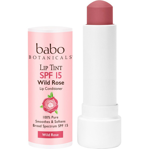 Sheer Lip Tint Conditioner SPF 15 Wild Rose Mineral Sunscreen Lip Balm