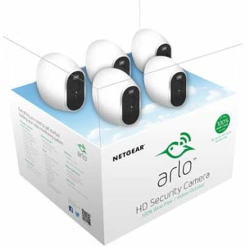 Arlo Security System - 5 Wire-Free HD Camera, Indoor/Outdoor and Night Vision