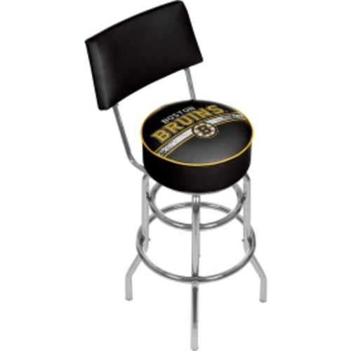 Trademark Games Boston Bruins Padded Swivel Bar Stool with Back