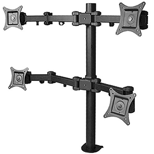 SIIG Articulating Quad Monitor Desk Mount for 13 to 27 Inches Monitors (CE-MT0S12-S1)