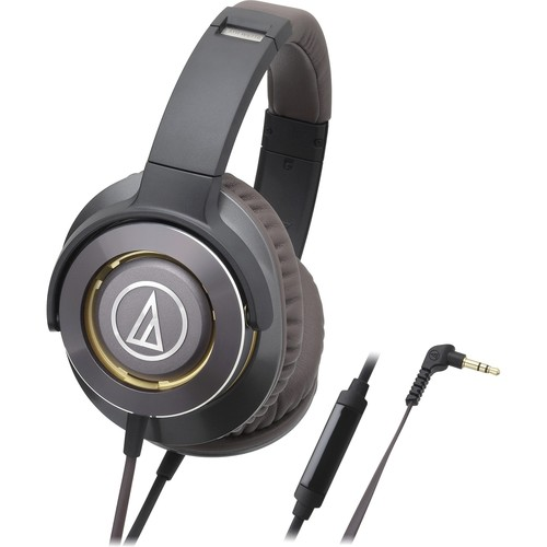 Audio-Technica Solid Bass Over-Ear Headphones with In-line Mic & Cont