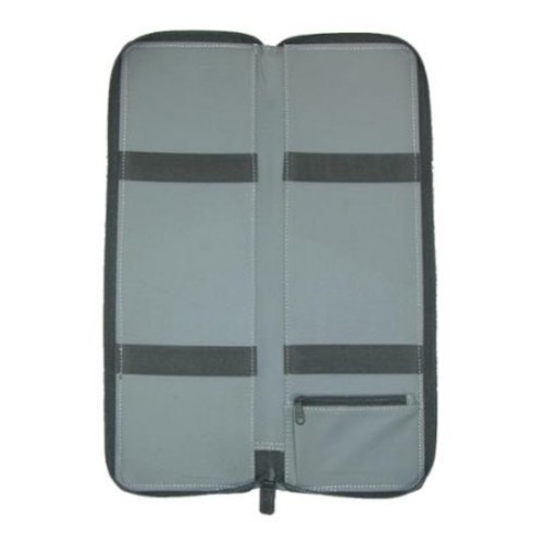 Black Cowhide Nappa Leather Tie Case