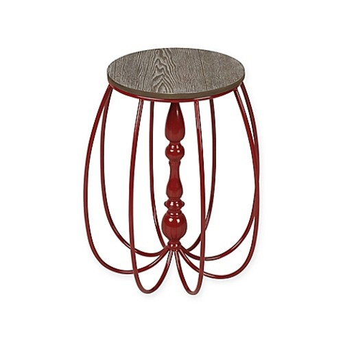 Kate and Laurel Tenterden End Table in Red