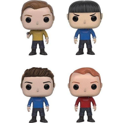 Funko - Star Trek Beyond POP! Collectors Set: Kirk, Spock, Bones and Scotty