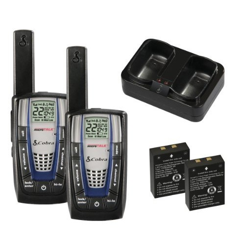 Cobra Walkie-Talkie microTalk CXR825 22-Channel Two-Way Radio (Pair)