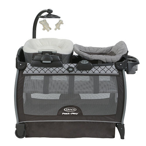 Graco Pack 'n Play Playard With Nearby Napper Seat (Portable Rocker) & Changing Table - Kai