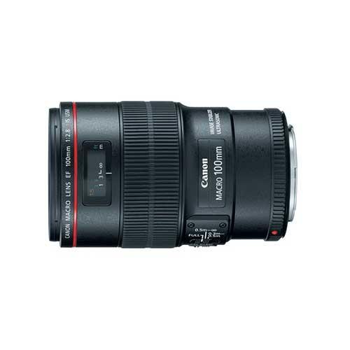 Canon EF 100mm f/2.8L IS USM Macro Lens for Canon Digital SLR Cameras [Lens Only]