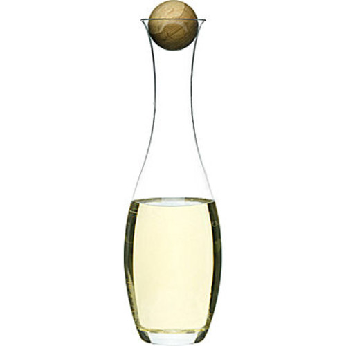Oval Oak Water and White Wine Decanter & Oak Stopper