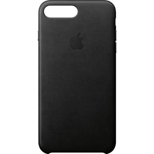 Apple - iPhone 8 Plus/7 Plus Leather Case - Black