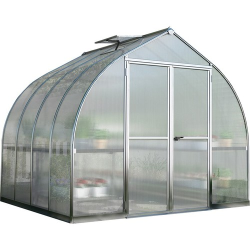 Palram Bella Hobby Greenhouse  8ft. x 8ft., Silver Frame, Model# HG5408