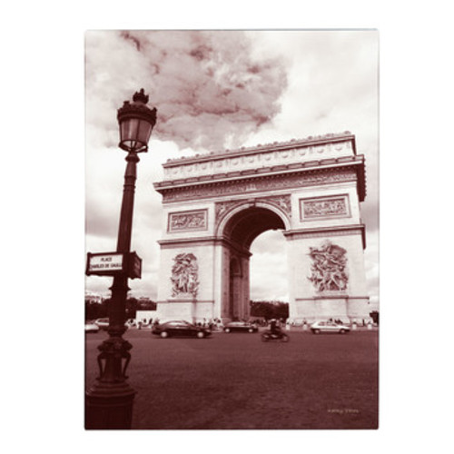 'Arc de Triomphe' by Kathy Yates Framed Photographic Print on Wrapped Canvas