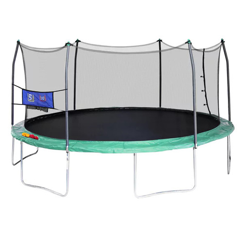 Skywalker Trampolines Green 16-foot Oval Trampoline with Enclosure and Toss Game - 16'd