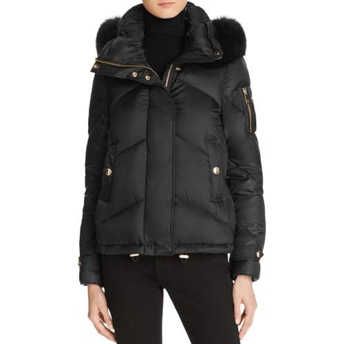 BURBERRY Wiltondale Fur Trim Down Puffer Jacket