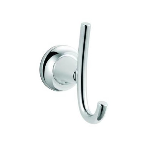Glacier Bay Constructor Double Robe Hook in Chrome