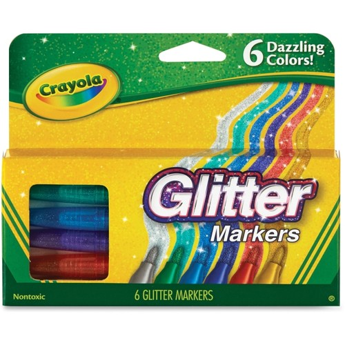 Crayola Glitter Markers, 6-count