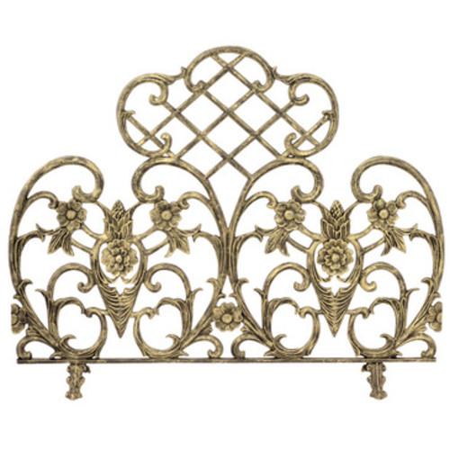 UniFlame S-5502 Single Panel Antique Gold Cast Aluminum Screen