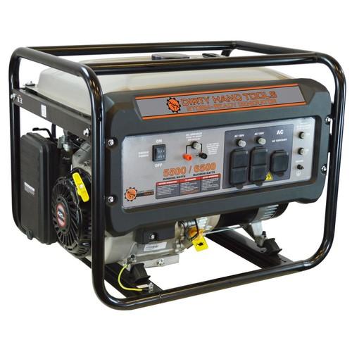 Dirty Hand Tools 5500-Watt Gasoline Powered Portable Generator