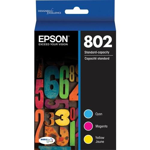 Epson - 802 3-Pack Ink Cartridges - Cyan/Magenta/Yellow