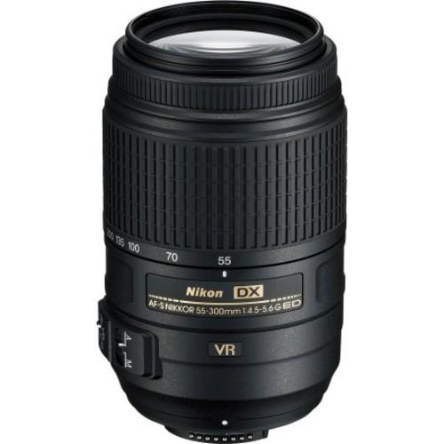 AF-S DX NIKKOR 55-300mm f/4.5-5.6G ED VR Lens (Refurbished)