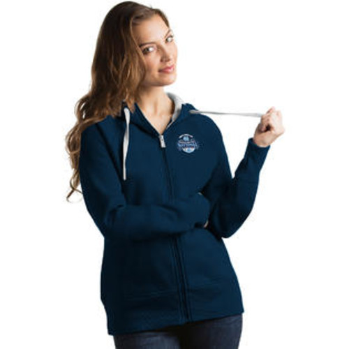 ANTIGUA WOMEN'S NORTH CAROLINA TAR HEELS 2017 NATIONAL CHAMPIONS VICTORY FULL ZIP HOODED SWEATSHIRT