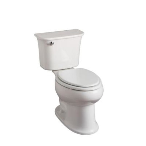 STERLING Stinson 2-piece 1.28 GPF High Efficiency Elongated Toilet in White