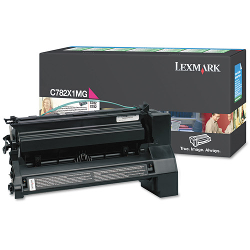 Lexmark LEXC782X1MG C782X1MG Extra High-Yield Toner, 15000 Page-Yield, Magenta