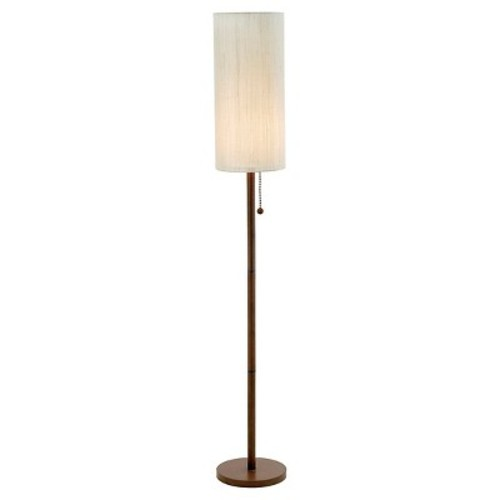 Adesso Hamptons 65 in. Walnut Floor Lamp